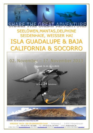 ISLA GUADALUPE & BAJA CALIFORNIA & SOCORRO - WiroDive