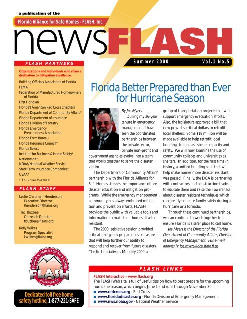 2000 Summer FLASH Newsletter - Florida Alliance for Safe Homes