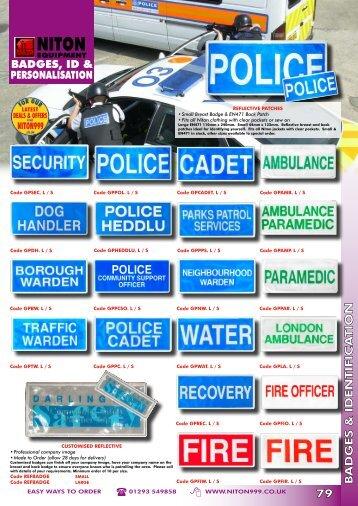 badges & identifica tion 79 badges, id & personalisation - Niton 999 ...