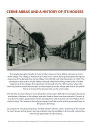 summary of the results - Cerne Abbas Historical Society