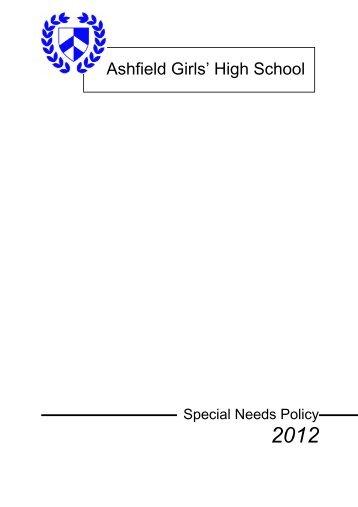 Special Needs Policy PDF - Ashfield Girls' High School