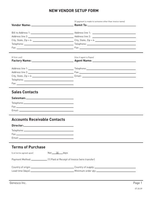 Vendor Form Template from img.yumpu.com