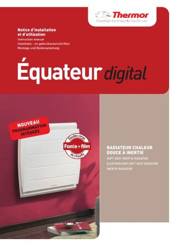 Equateur digital programmable light - Thermor