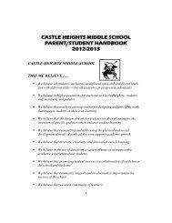 castle heights middle school parent/student handbook 2012-2013