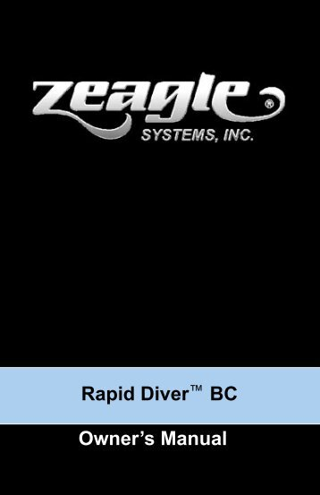 Rapid Diver BC Manual 2.indd - Zeagle