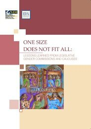 One Size Does Not Fit All - International IDEA