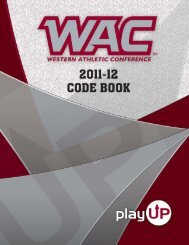 Western Athletic Conference Code Book 2011-12 Fresno State ...
