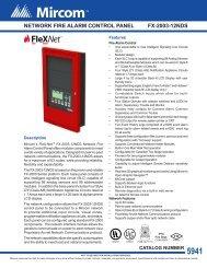 NETWORK FIRE ALARM CONTROL PANEL FX-2003-12N - Mircom