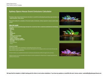 SOH Event Carbon Counter Template - Sydney Opera House
