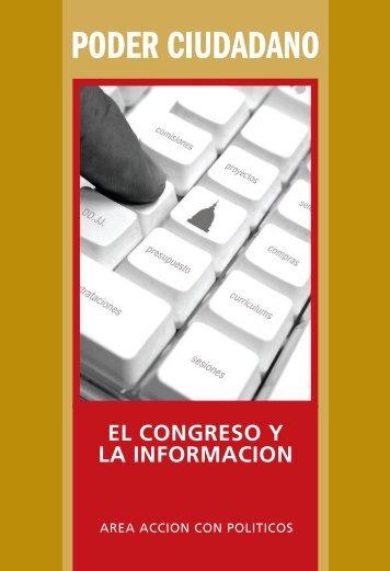 Congreso y la informaciÅn - Poder Ciudadano