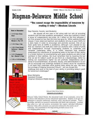 Marking Period 1 Newsletter - Delaware Valley School District
