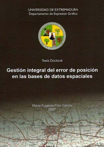 Gestión integral del error de posición en las bases de datos ...