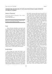 chemisches zentralblatt se po 40 letech vrací jako ... - Chemické listy