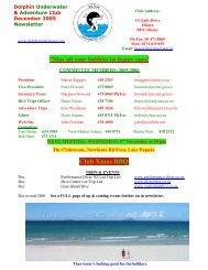 Club Xmas BBQ - DolphinUnderwater.org