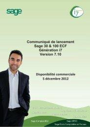 Communiqué de lancement Sage 30 & 100 ECF ... - extremIT