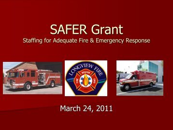 SAFER Grant - City Council Agenda