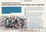 Sosyal paylaşımların artık bir zamanı, sınırı, engeli yok - Bilişim Dergisi