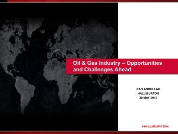 Oil & Gas Industry – Opportunities and Challenges Ahead