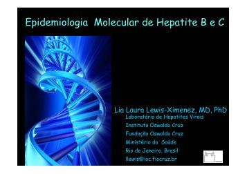 Epidemiologia Molecular de Hepatite B e C - Epi2008
