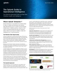The Splunk Guide to Operational Intelligence