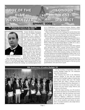 *Newsletter-Spring 2008 - London Area Freemasonry