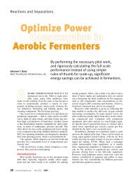 Optimize Power Consumption in Aerobic Fermenters - CMBE