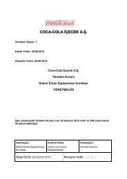 coca-cola içecek a.ş. yönetim kurulu riskin erken saptanması ...