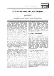 Gelecekte pulmoner arter hipertansiyonu - Tıp Araştırmaları Dergisi