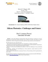 Silicon Photonics: Challenges and Future - Photonics Italian Chapter