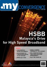 Malaysia's Drive for High Speed Broadband - my Convergence
