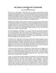 SRI LANKA'S CONTRIBUTION TO BUDDHISM - Ven Dr K Sri ...