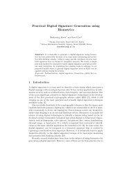 Practical Digital Signature Generation using Biometrics - Computer ...