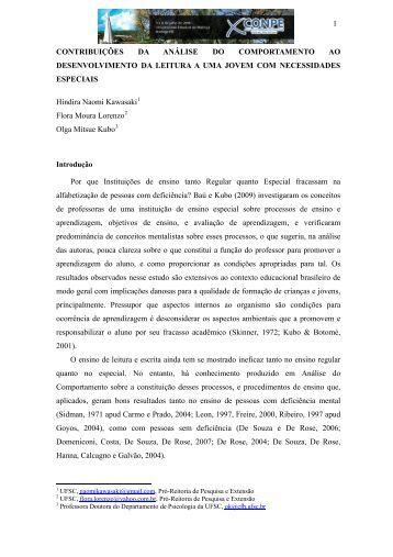 1 CONTRIBUIÇÕES DA ANÁLISE DO COMPORTAMENTO AO ...