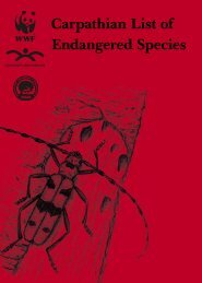 Carpathian List of Endangered Species - The Carpathian ...