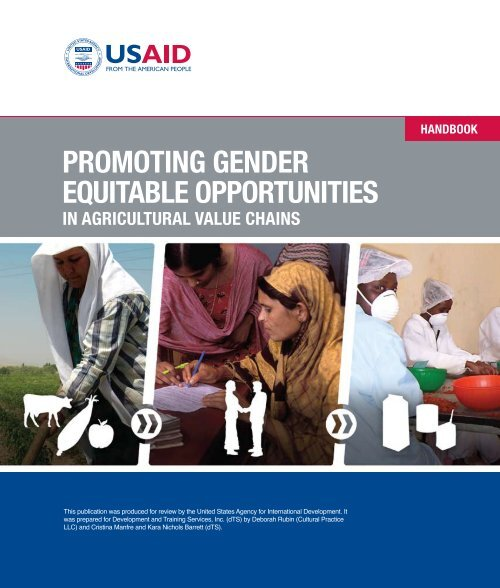 promoting gender equitable opportunities in agricultural ... - weman