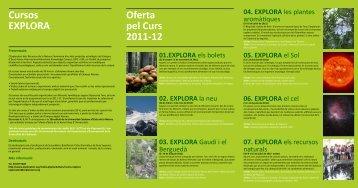 Cursos EXPLORA Oferta pel Curs 2011-12 - UPC