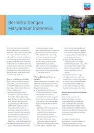 Bermitra Dengan Masyarakat Indonesia - Chevron di Indonesia