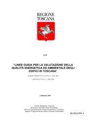 Linee Guida Regione Toscana - Dipartimento di Tecnologie dell ...