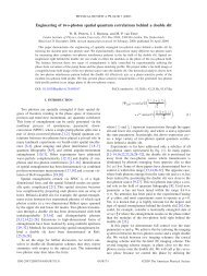 Engineering of two-photon spatial quantum correlations behind