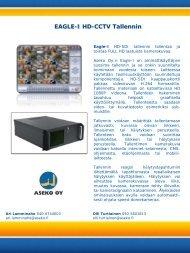 Tuote-esite ja tekniset tiedot EAGLE-I HD-SDI Tallennin - Aseko Oy