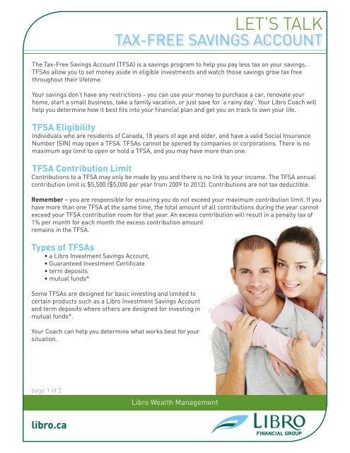 Tax free savings accounts pdf free download 2020