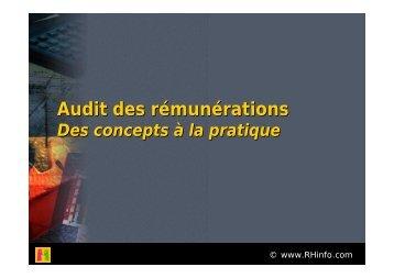 Définir les finalités de l'audit des rémunérations - e-RH
