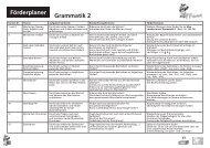 Förderplaner Grammatik 2