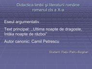 Ultima noapte de dragoste, intaia noapte de razboi - Camil Petrescu