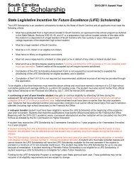 LIFE Scholarship Assessment Form - Aiken Technical College