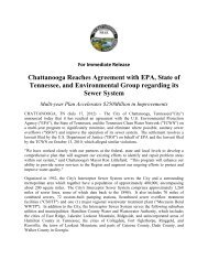 Chattanooga Reaches Agreement with EPA, State of Tennessee ...