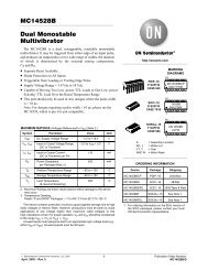 MC14528B Dual Monostable Multivibrator