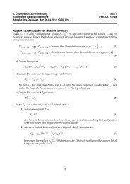 Übungsblatt 1 - bei der Fakultät Physik der TU-Dortmund