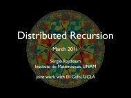 Recursion in distributed computing - Instituto de Matemáticas de la ...