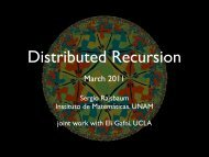 Recursion in distributed computing - Instituto de Matemáticas de la ...